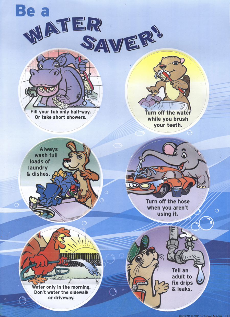 Be a Water Saver Sticker Sheet
