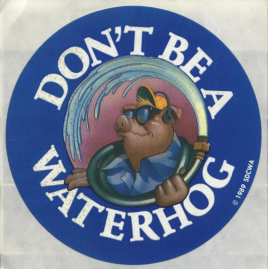 Don't Be a Waterhog Sticker